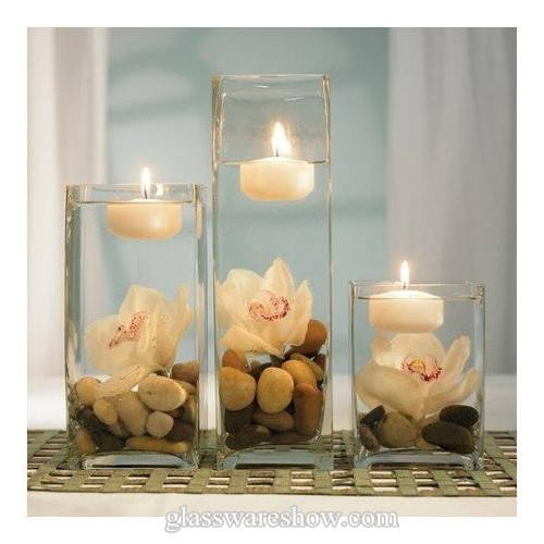 Floating Candle Centerpiece With Flower11