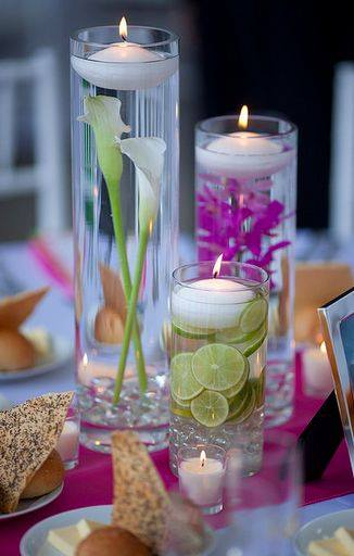 Floating Candle Centerpiece With Flower13