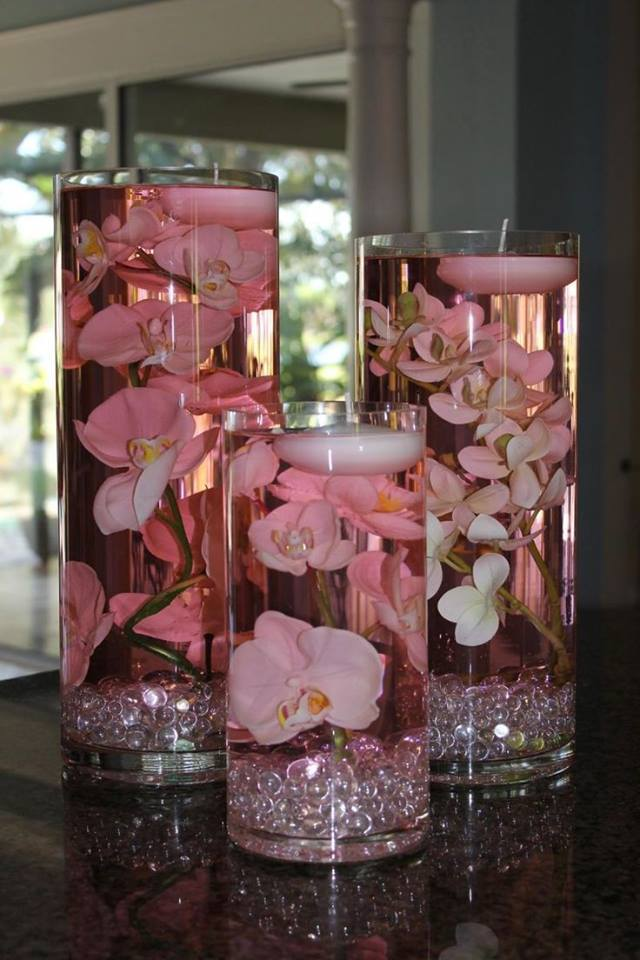 Floating Candle Centerpiece With Flower14