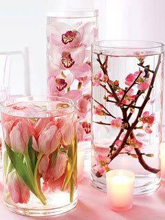 Floating Candle Centerpiece With Flower16