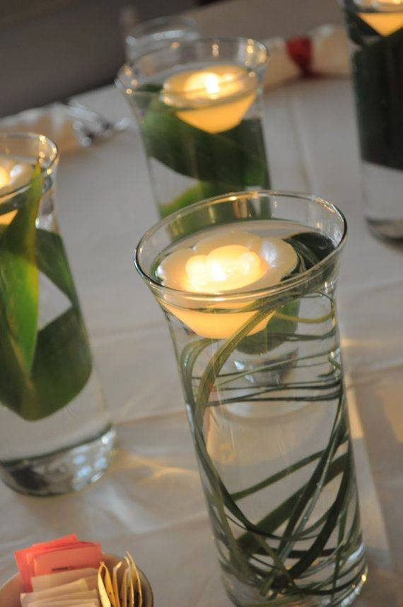Floating Candle Centerpiece With Flower19