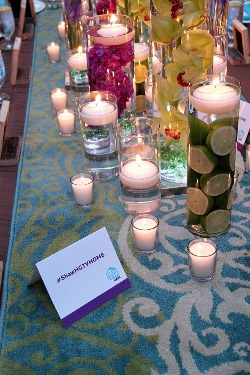 Floating Candle Centerpiece With Flower4