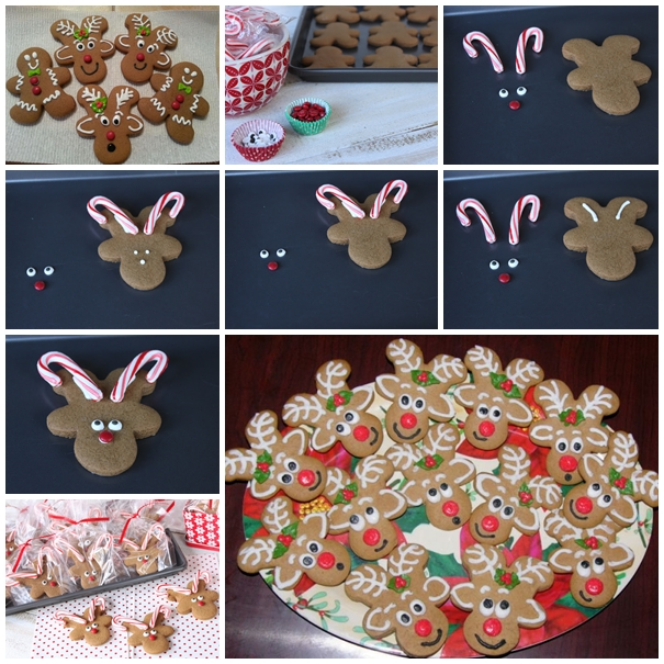 Gingerbread Reindeer Cookies F Wonderful DIY Cute Reindeer Cookies With Gingerbread