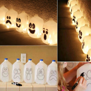 Wonderful DIY Easy Halloween Lantern From Milk Jug