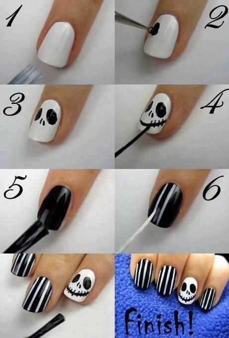 Halloween nail art 1