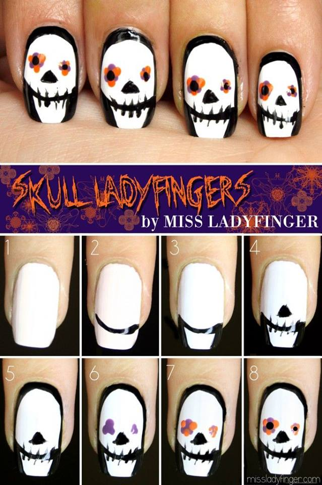Halloween nail art 10 10 Wonderful Halloween Nail Art Ideas