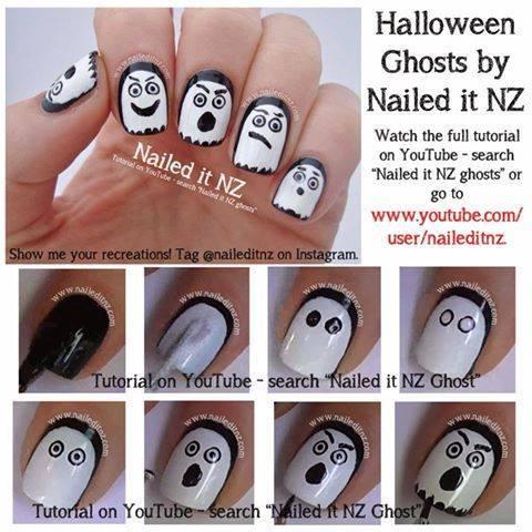 Halloween nail art 5
