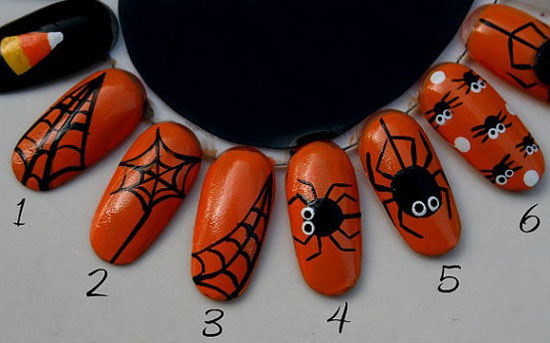 Halloween nail art 6