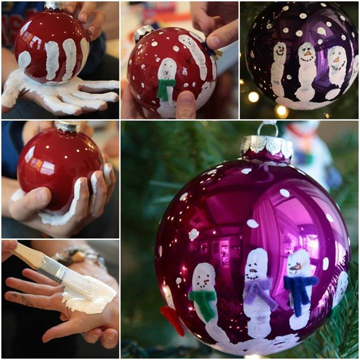 Handprint ornaments DIY F Wonderful DIY Sparkly Mosaic Ornaments from CDs