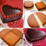 Wonderful DIY Heart-Shaped Cake For Valentine's Day