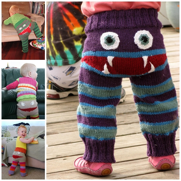 Terrifyingly Terrific Diy Knitted Monster Pants Free Pattern And