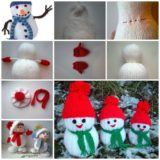 Wonderful DIY Jolly Knitted Snowmen With Free Patterns