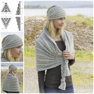 Wonderful DIY Knitted  Headband and Shoulder Piece Set