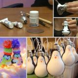 Wonderful DIY Cute Light Bulb Penguin Ornaments