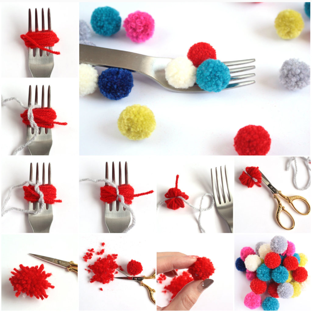 Make-Pom-Poms-with-a-Fork