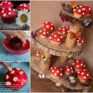 Wonderful DIY  Fairy Garden Mushroom Cupcakes