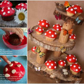 Wonderful DIY  Fairy Garden Mushroom Cupcakes