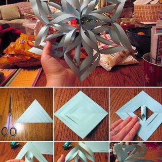 Wonderful DIY 3D paper star Snowflakes