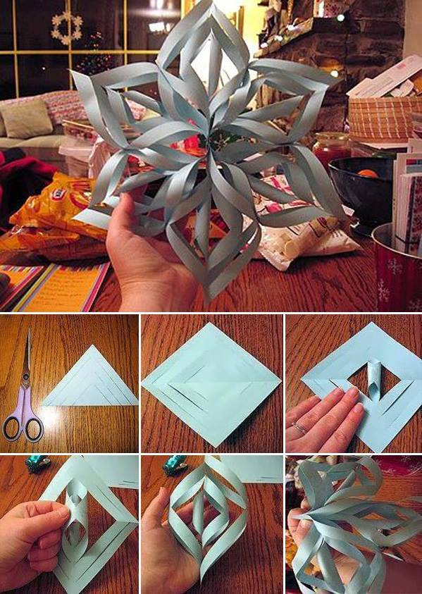 Wonderful diy 3d paper star snowflakes solutioingenieria