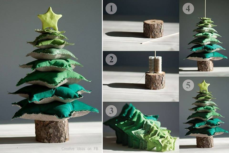 PillowChristmasTree Wonderful DIY  Mesh Ribbon Christmas Tree