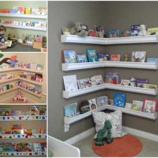 Wonderful DIY Rain Gutter Bookshelves For Kids