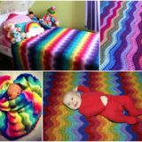 Beautifully Colorful Rainbow Ripple Blanket – Free Pattern and Guide