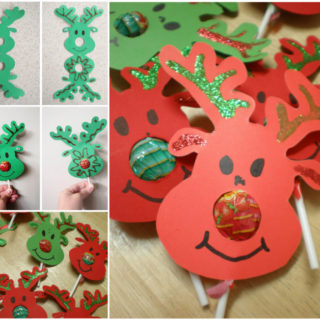 Wonderful DIY Adorable Reindeer With Lollipop Nose