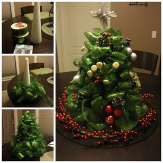 Wonderful DIY  Mesh Ribbon Christmas Tree