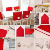 Wonderful DIY Adorable Santa Hat Chair Covers