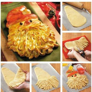 Wonderful DIY Golden Santa Bread for Christmas