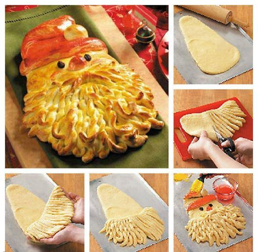 Santa bread for Christmas. Wonderful DIY Golden Santa Bread for Christmas