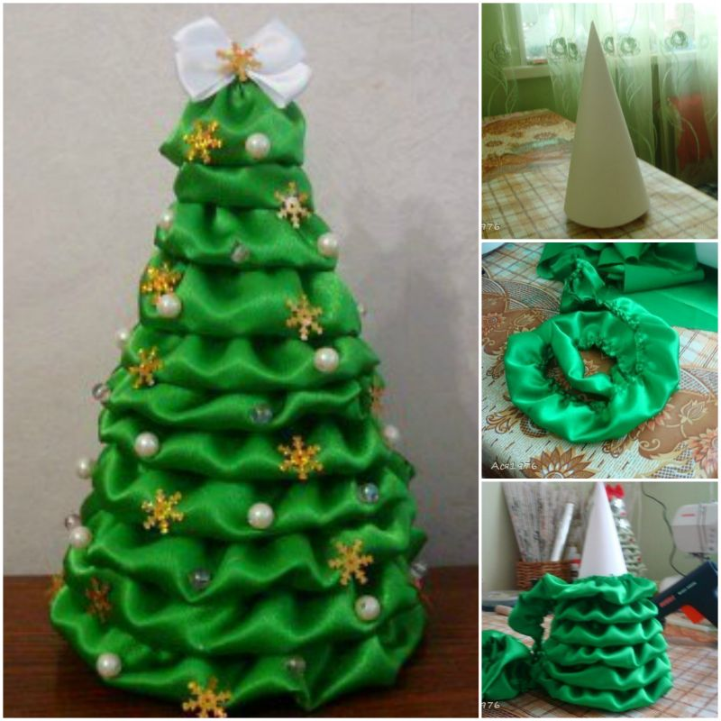 view in gallery satin fabric christmas tree diy f