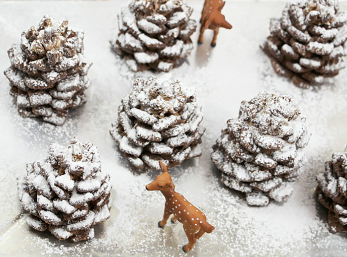 Snowly chocolate-pinecone recipe 1