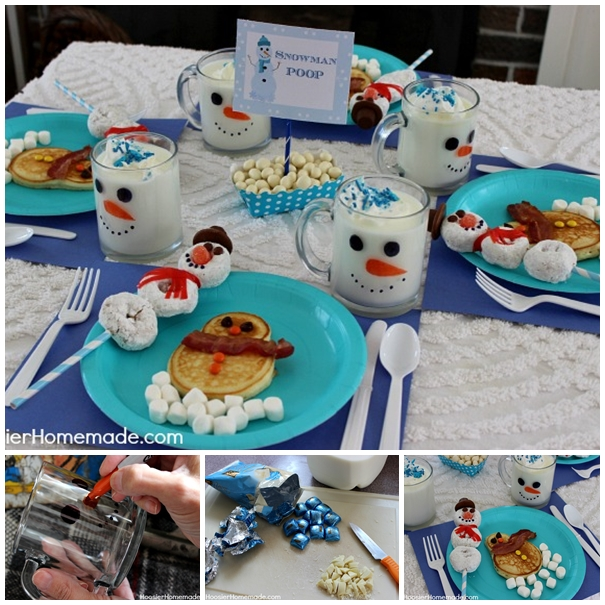 Snowman breakfast F Wonderful DIY Cute Snowman Breakfast for Kids