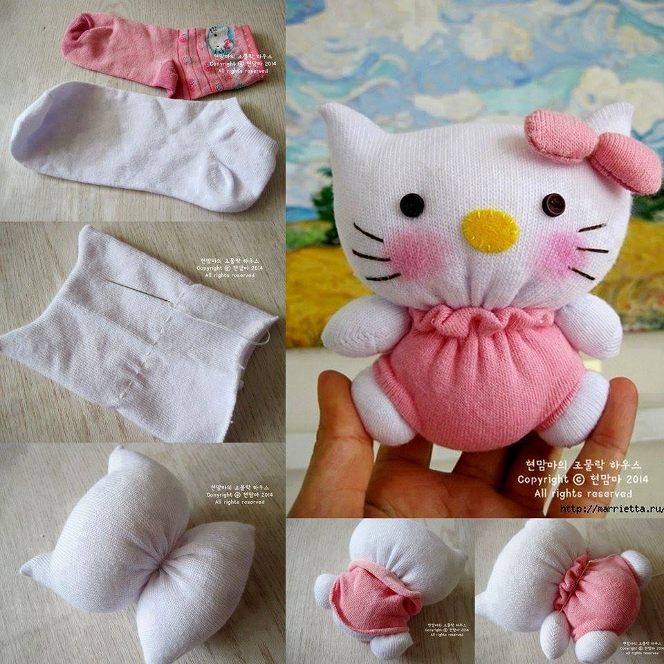 Sock Hello Kitty Wonderful DIY Adorable Sock Hello Kitty