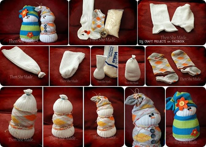 Sock Snowmen1 Wonderful DIY Adorable Sock snowmen