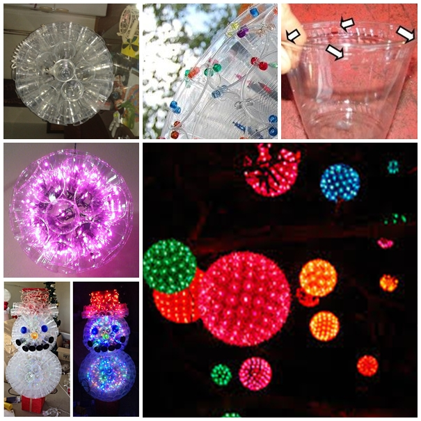 Wonderful diy christmas sparkle ball decoration from plastic cups solutioingenieria Gallery