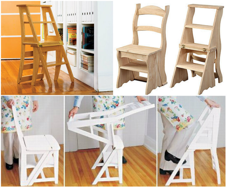Wonderful Diy 2 In 1 Step Stool Chair