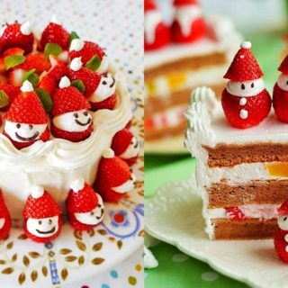 Wonderful DIY  Cute Santa Strawberry Cake