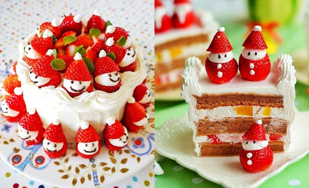 Strawberry Santa Cake F Wonderful DIY  Cute Santa Strawberry Cake