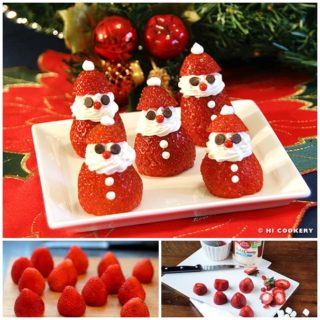 Wonderful DIY Adorable Strawberry Santas