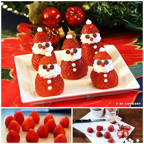 Strawberry Santas F Wonderful DIY Adorable Strawberry Santas