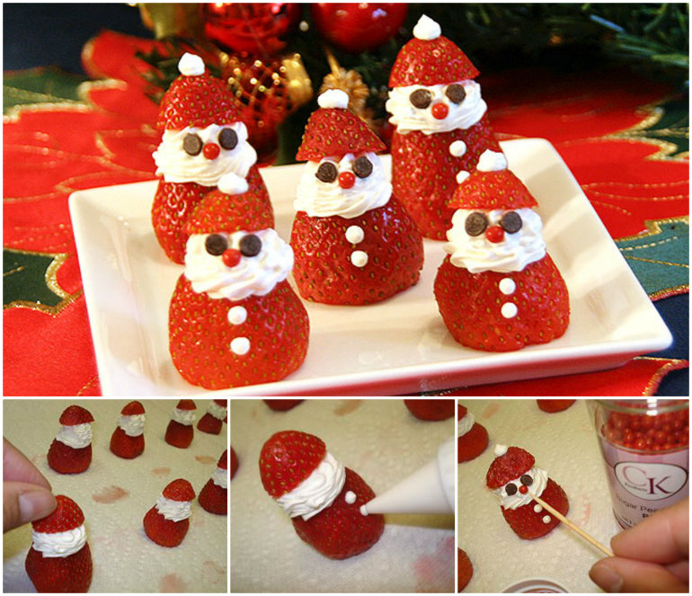 Strawberry Santas Wonderful DIY Adorable Strawberry Santas