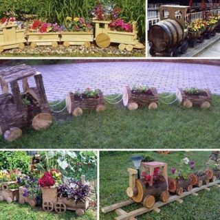 Wonderful DIY Cutest Choo Choo Train Planter  for Your Garden