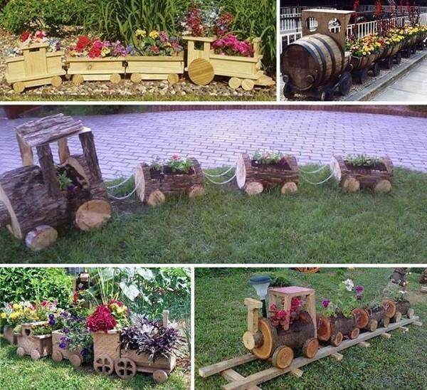 Train Planter DIY F Wonderful DIY Cutest Choo Choo Train Planter  for Your Garden