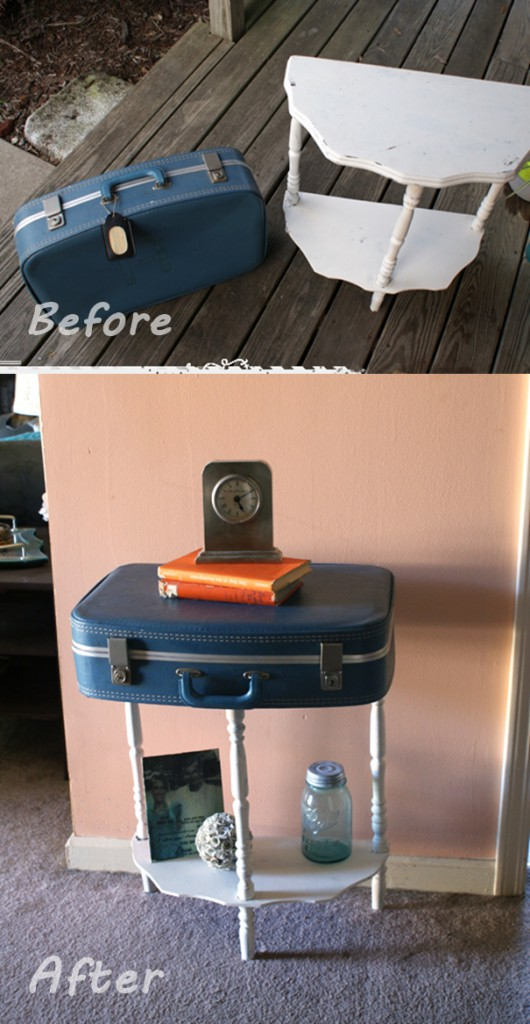 Upcycle Suitcase table F 530x1024 Wonderful DIY Cool Upcycled Suitcase table