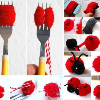 Wonderful DIY Cute Pom-pom Ladybug