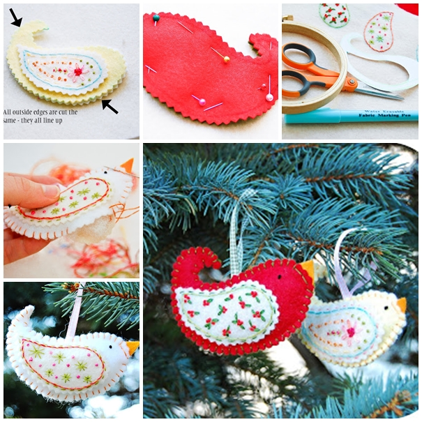 birdie ornaments F Wonderful DIY Cute Felt Bird Ornaments