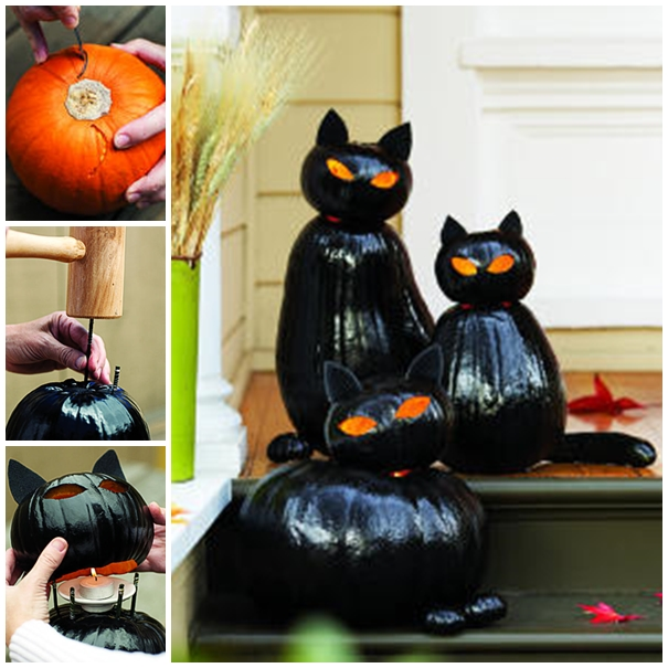 blackcat cat lantern F  Wonderful DIY Pumpkin Black Cat Olanterns