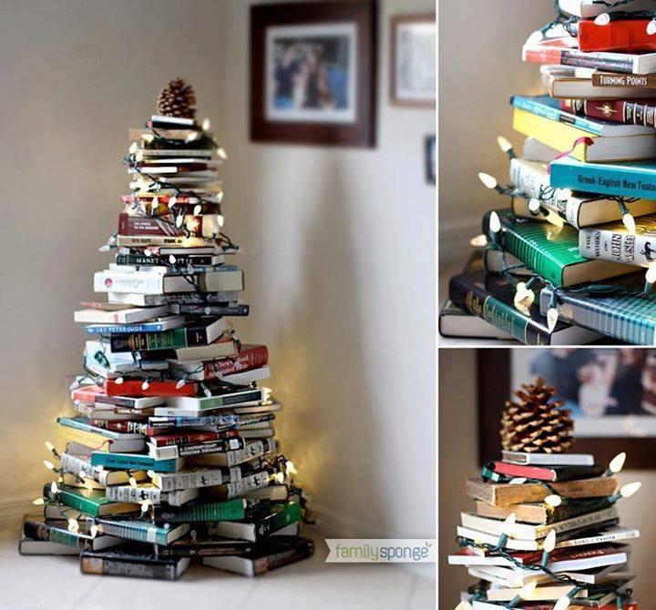 book Christmas Tree  Wonderful DIY Stunning  Book Christmas Tree